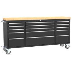 Kinbox 15 Pesado de Gaveta de armário de ferramentas Ferramenta de 72 polegadas Carrinho para Reparo automático