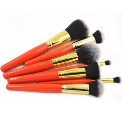 7PCS роскошный красный макияж набор щеток вращающегося пылесборника порошка Foundation щетки вращающегося пылесборника и несерьезным косметический прибор