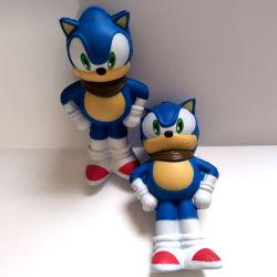 Sonic PU Squishy lento aumento de juguete Squishies Kid regalos