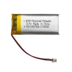 Kc38.3 des Nations Unies a approuvé ce RoHS Li ion 3,7 V 700mAh Lipo pour chargeur de batterie