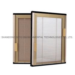 ドアのための空シャッターガラスおよび内部ブラインドとのWindowsによって絶縁される盲目シャッターガラスWindows