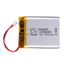 3.7V 대용량 충전식 104050 2300mAh 리튬이온 배터리 셀 팩