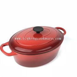 De beste Pot van de Braadpan van de Soep van de Kip van het Email van het Gietijzer van de Prijs Ovale Tonische Kokende