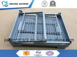 Для тяжелого режима работы квалифицированных Китая стек и складные проволочной сетке поддон для материально-технического обеспечения