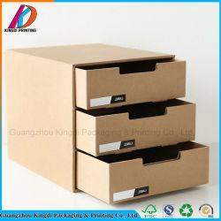 3 Tiroir papier kraft de zone de stockage de documents de bureau
