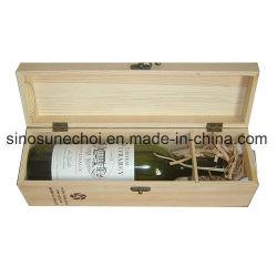 De onvolledige Doos Van uitstekende kwaliteit van de Rode Wijn van het Hout van de Pijnboom Enige met Slot