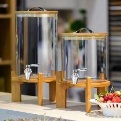 Grosses Glasglas-Glasflasche mit Hahn des Edelstahl-304