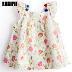 상표 OEM/ODM 공장 아기 의복 소녀 당 꽃 시퐁 복장 아이 형식 착용