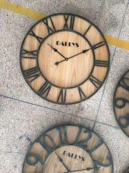 + Madeira Metal Tamanho Grande Relógio de parede Jdn-004
