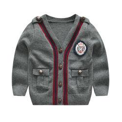 Новый детский Вязаная кофта свитер, длинными рукавами трикотажных изделий мода дети износа оптовая торговля