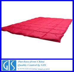 Textil hogar de inspección y control de calidad para edredón