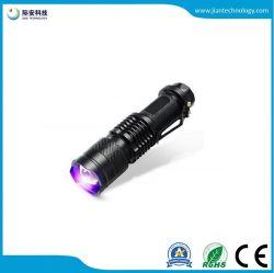 torcia della torcia elettrica di ultravioletto LED della batteria di caccia aa dello scorpione 3W mini