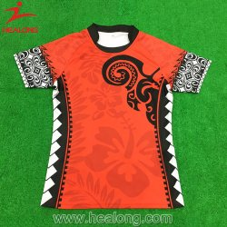 Healong China Fancy Design Cheap Price Apparel Gear Sublimation Rugby Jerseys Voor Heren