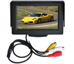 Siège arrière de voiture de 4,3 pouces LCD moniteur de test de vidéosurveillance avec entrée AV