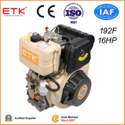5 CH-22HP refroidi par air unique cylindre moteur Diesel à injection directe