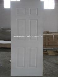 3mm 4mmの6panel白いプライマーHDF MDFによって形成されるドアの皮パネルの木のドア