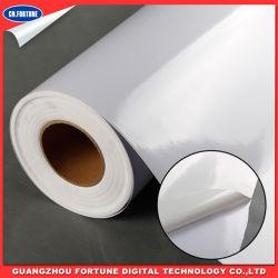 Eco 용해력이 있는 인쇄할 수 있는 120g 및 140g 자동 접착 PVC 비닐