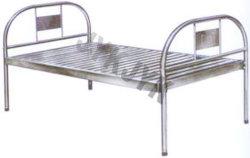 Aço inoxidável cama de hospital