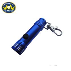 Carabinerの多色刷りアルミニウム安い3LED Keychainの懐中電燈