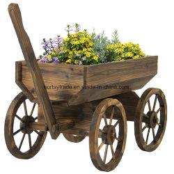 Creative Trolley-Shape Maceta maceta de madera decoración Jardín Sembradora de madera