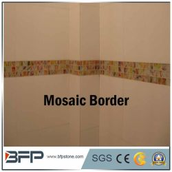 Frontera Listello mosaico de mármol para decorar el cuarto de baño y cocina