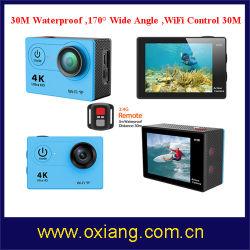 De Camera van de Sport van WiFi van de Stijl van Gopro Hero3 4k met het Verre Controlemechanisme van de Pols
