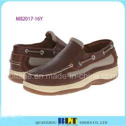 新しいデザイン防水革ボートの靴