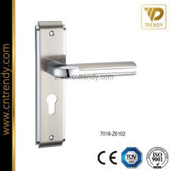 Fundición de aleación de zinc de alta precisión manijas de puertas en breve la placa (7018-Z6102)