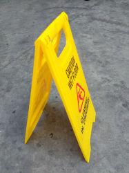 노란색 A 모양의 플라스틱 경고 보드 미끄러운 경고 보드 Wet Floor 알림 보드