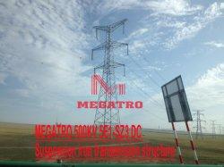 Megatro 500kv 5E1-SZ3 dc la suspension de la structure de la transmission de fer