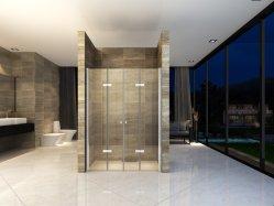 浴室の倍のフォールドのガラスシャワー室