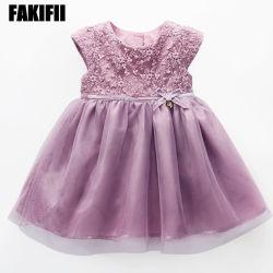 Abito del ricamo del vestito dal cotone della ragazza dell'indumento del bambino del ODM progettato marca