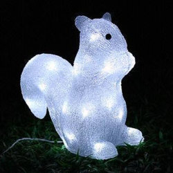 Weihnachten Im Freien Dekoration LED Solar Squirrel Motif Lights