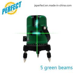 360 het roterende Groene Niveau van de Laser met 5 Lijnen 6 Punten