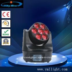 Minider bienen-Unterhaltungs-Serien-LED beweglicher Kopf Wäsche-des Licht-7*10W des Vierradantriebwagen-LED