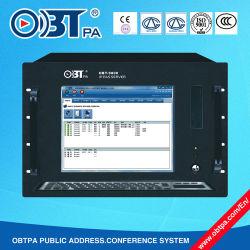 15 Inch-Bildschirm intelligenter IP-Netz PA-Systems-Computer, IP-Netz-Audiosendungs-Server