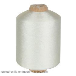 Замотка 100% высокой цепкости резьбы нити полиэфира FDY сырцовая белая мягкая на 1.5 конусах пефорированных Kg крася 250d/3