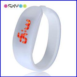 Promoção Gifrt Desportos Digital LED Silicone Relógios de pulso