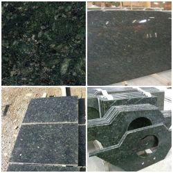 中国の緑の花こう岩のVerdeの蝶積層物か台所または浴室またはコンクリートまたはSoapstoneまたはFormicaは前に花こう岩のカウンタートップを切った