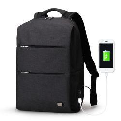Новые поступления мужчин рюкзак для сумок для ноутбуков с диагональю 15,6 дюйма большой емкости и не формальный мешок водонепроницаемый Softpack с зарядкой через USB