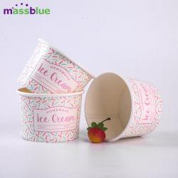 4oz imprimé de la crème glacée Crème de la coupe du papier / papier papier de la Coupe du bol de crème glacée