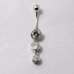 Jóias de prata Jóias Belly Button Ring body piercing com óxido de zircónio cúbico
