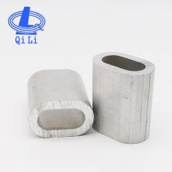 DIN3093 стального троса нажат алюминиевый Овальный стакан