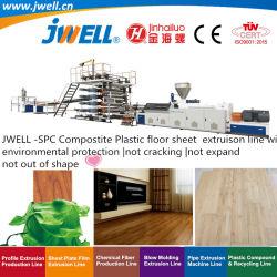 Jwell - Blad die van de Vloer van SPC het Samengestelde Plastic Makend de Machine die van de Uitdrijving met Milieubescherming niet uit geen Vorm zich barsten niet uitbreiden recycleren
