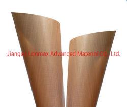 Hoja de 1mm de PTFE lámina de aluminio recubierto de tela de fibra de vidrio.