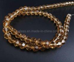 Parels van het Glas van de douane de rond Gefacetteerde voor het Maken van Juwelen en de Decoratie van de Lamp