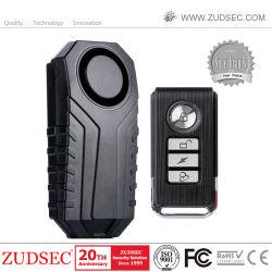 Control remoto inalámbrico de seguridad del hogar Sensor Magnético de la ventana de la puerta del motor de bicicleta de alarma de coche baratos ladrón Sensor de vibraciones 110dB