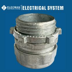 Connettore metallico elettrico (EMT) di compressione del tubo