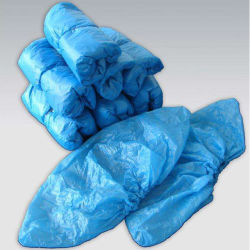 공장 17 * 41 3G 블루 화이트 일회용 방수 오버슈 PE Surgical 신발 커버