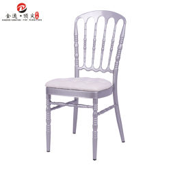 Commerce de gros meubles de salle de banquet Salles de banquet Salle à manger de l'événement Chateau de résine de bois de mariage Transparent Chiavari Napoléon des chaises pour la vente